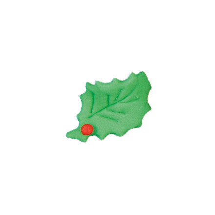 holly leaf 5cm  red, green