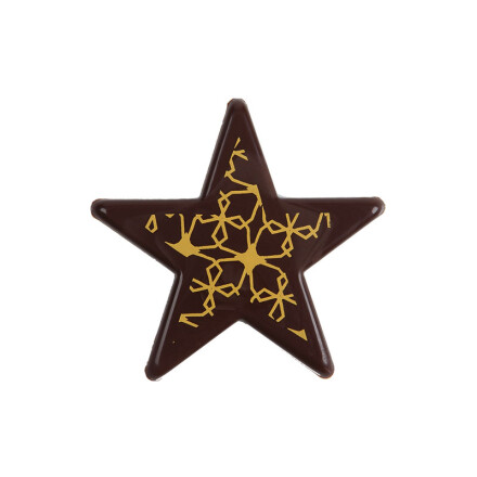 star 5,5 cm yellow impression