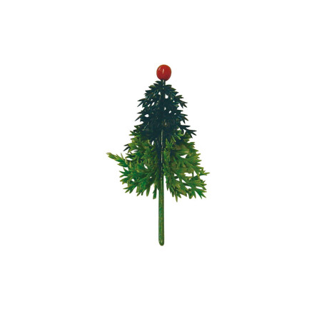 Christmas tree with red ball 6cm plastic