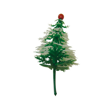 Christmas tree with red ball 5,5 plastic