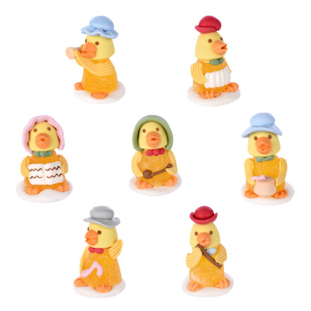 chicks with hat 4cm jelly and sugar