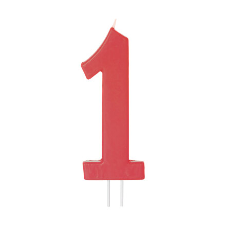 number candles big red no 1