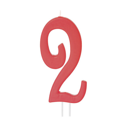 number candles big red no 2