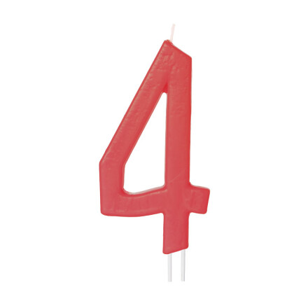 number candles big red no 4
