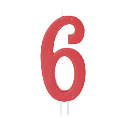 number candles big red no 6