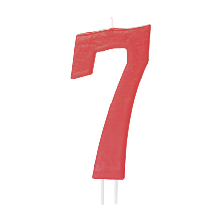 number candles big red no 7