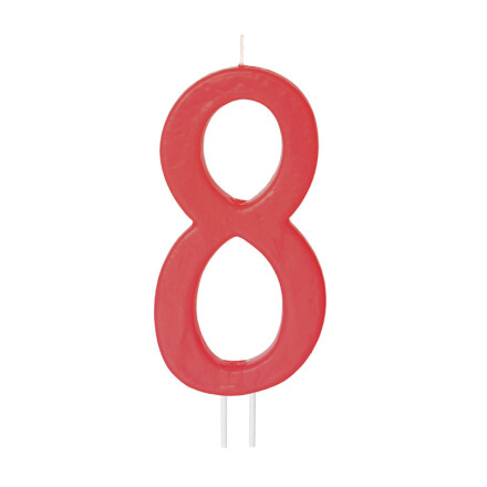 number candles big red no 8