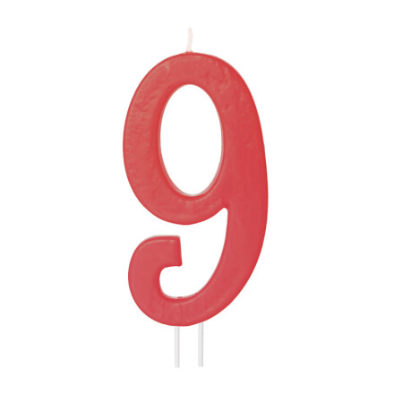 number candles big red no 9