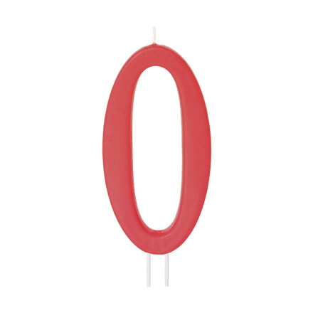 number candles big red no 0