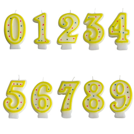 number candles assortment