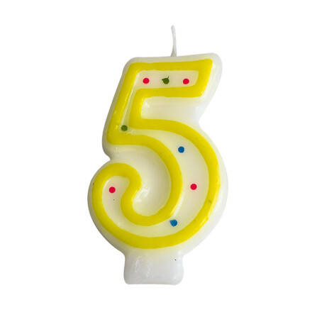 number candles yellow no 5