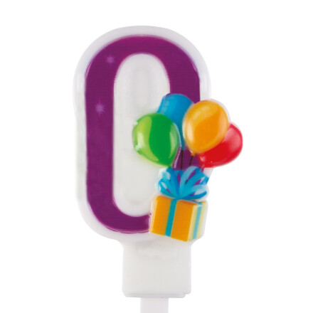balloons number candle nr 0