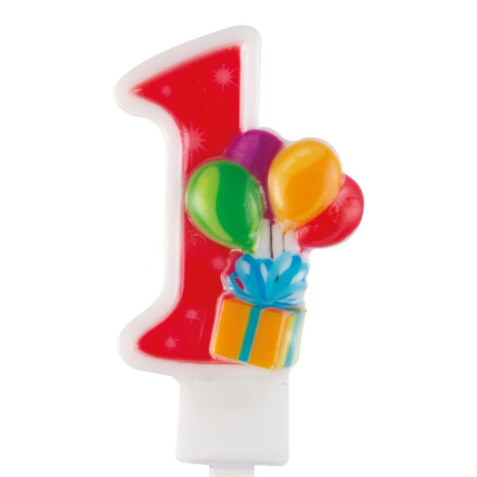 balloons number candle nr 1