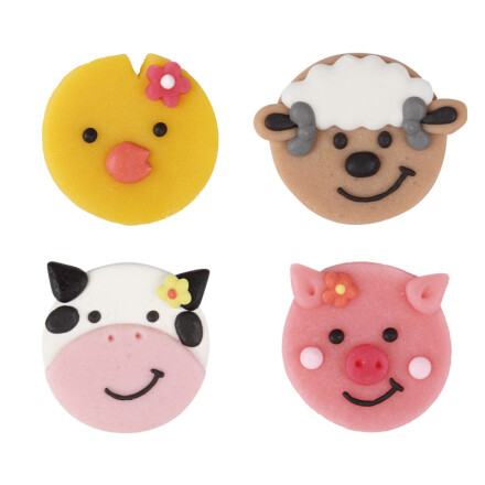 animal heads flat assortment