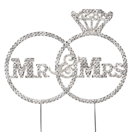 mr & mrs rhinestone 11 x 15 cm