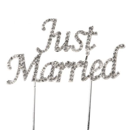 just married rhinestone 9 x 5 cm