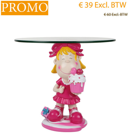 cake holder girl h49x48 cm