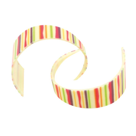 curl colorful lines white  4 cm