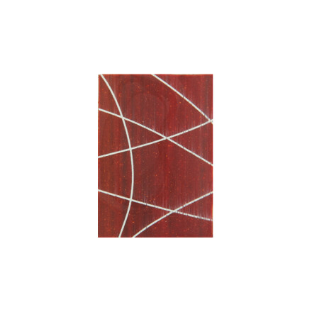 red plate with white lines  3.5x2.5cm
