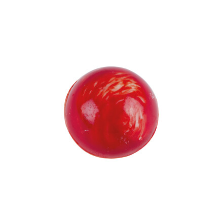 ball red-marbled 2,2 cm white