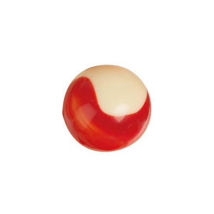 ball marbled red 2,2 cm white