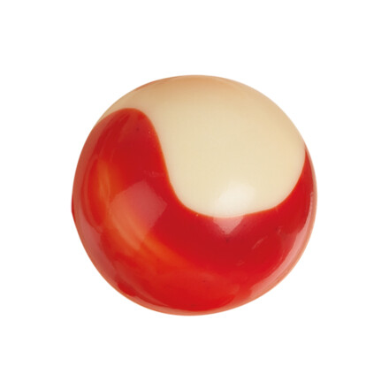 ball white red streak 2,8 white