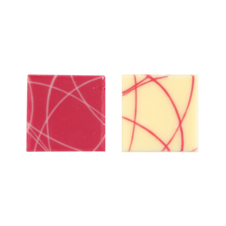 plate 3x3cm white pink lines