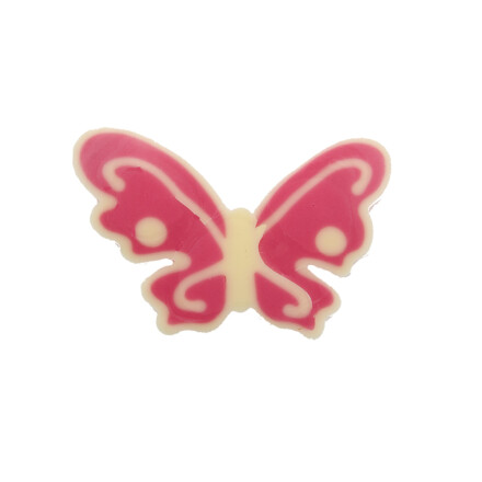 butterfly pink & white