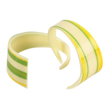 Curl white yellow and green lines 4 cm