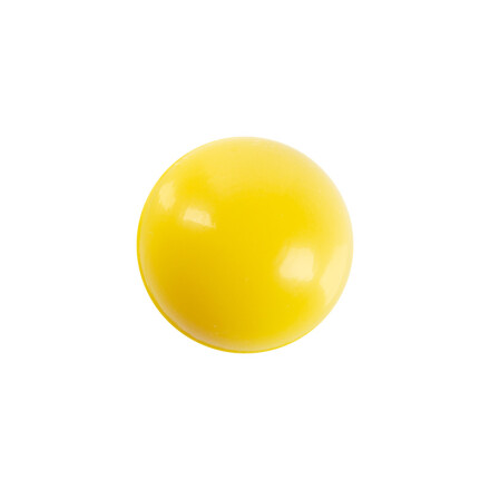 ball 2,2 cm white  yellow color