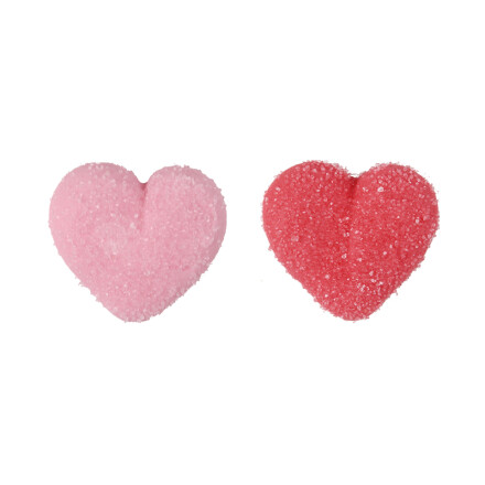 heart pink and red