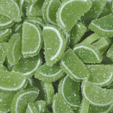 slices of kiwi jelly green 2 kg