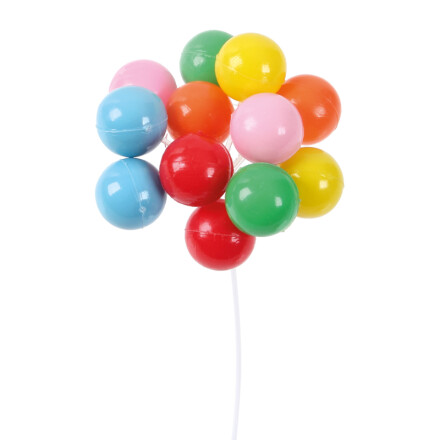 balloons 7cm plastic coloured