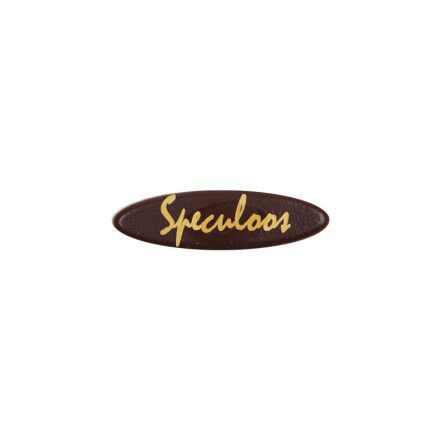 oval plate 4,5x1,3cm  speculoos