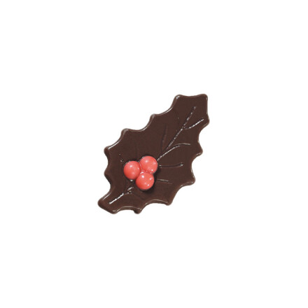 holly leaf with berry 2,5x4,5cm