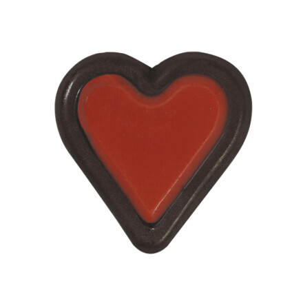 heart 3cm  red, brown