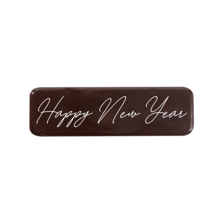 """Plate 'Happy New Year"""" 4,5x 1,3 cm"""
