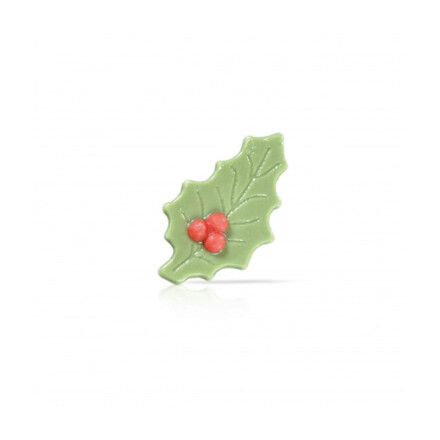 Holly leaf with berry 4,5x2,5 cm