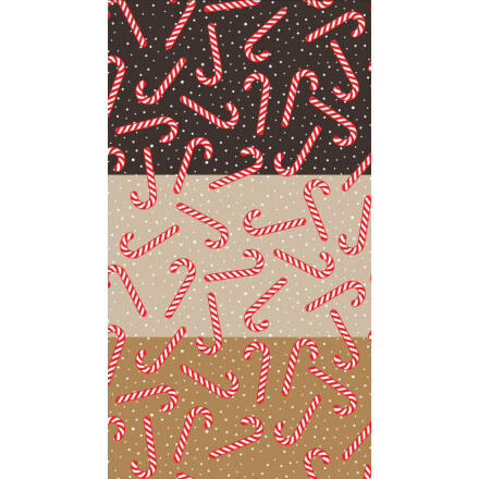 Transfer sheet 29,5x16,5 cm candy canes