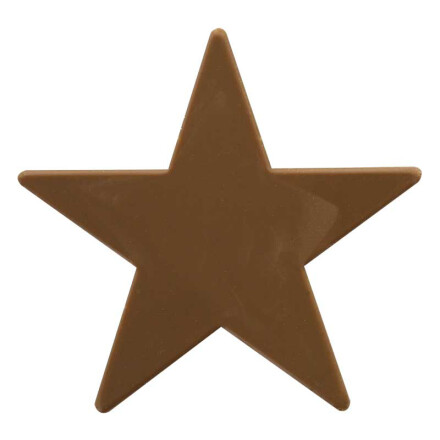 star 9 cm brown