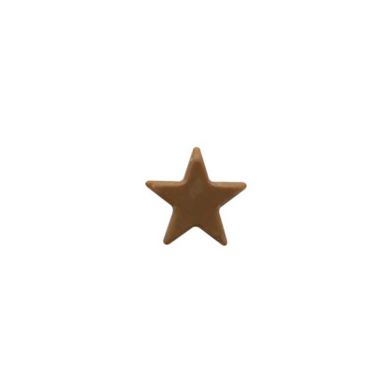 star 2,5 cm brown