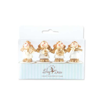 angels gold silver polyresin