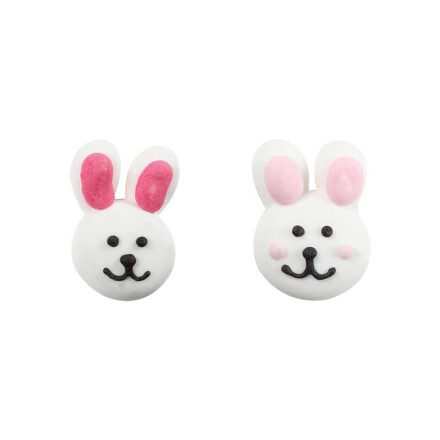 easter bunnies white
