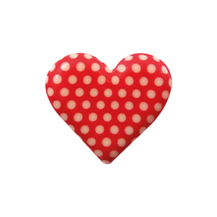 plate  hearts with dots